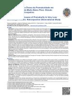 Doença metabólica óssea da prematuridade