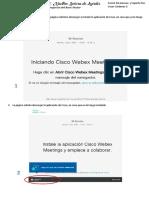 Ingreso Cisco Webex