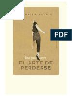 Una Guia Sobre El Arte De Perderse-Solnit Rebecca