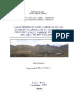 word Caracteristicas metalogenicas yacimientos volcanismo cenozoico Region Cajamarca