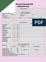 Ficha de Evaluación Terapeutica