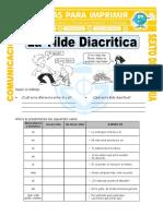 Ficha La Tilde Diacritica Para Sexto de Primaria (1)