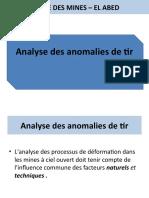 Analyde Des Anomalies de Tir
