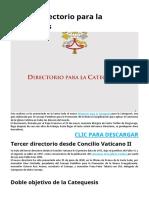 Nuevo Directorio Catequesis