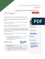Tablet based Enterprise Mobility Solutions in 2011