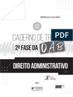 PÁGINAS CADERNO DE TREINO PARA A 2ª FASE DA OAB - DIREITO ADMINISTRATIVO 2021