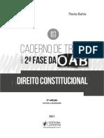 PÁGINAS CADERNO DE TREINO PARA A 2ª FASE DA OAB - DIREITO CONSTITUCIONAL 2021