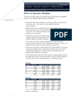 Dynamic Weights