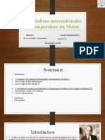Les relations internationales contemporaires du Maroc