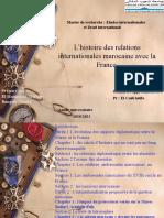 Présentation relation international Maroc France