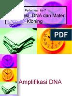 6. PCR Dan Materi Kloning