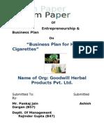 B-Plan (Herbal Cigarettes)