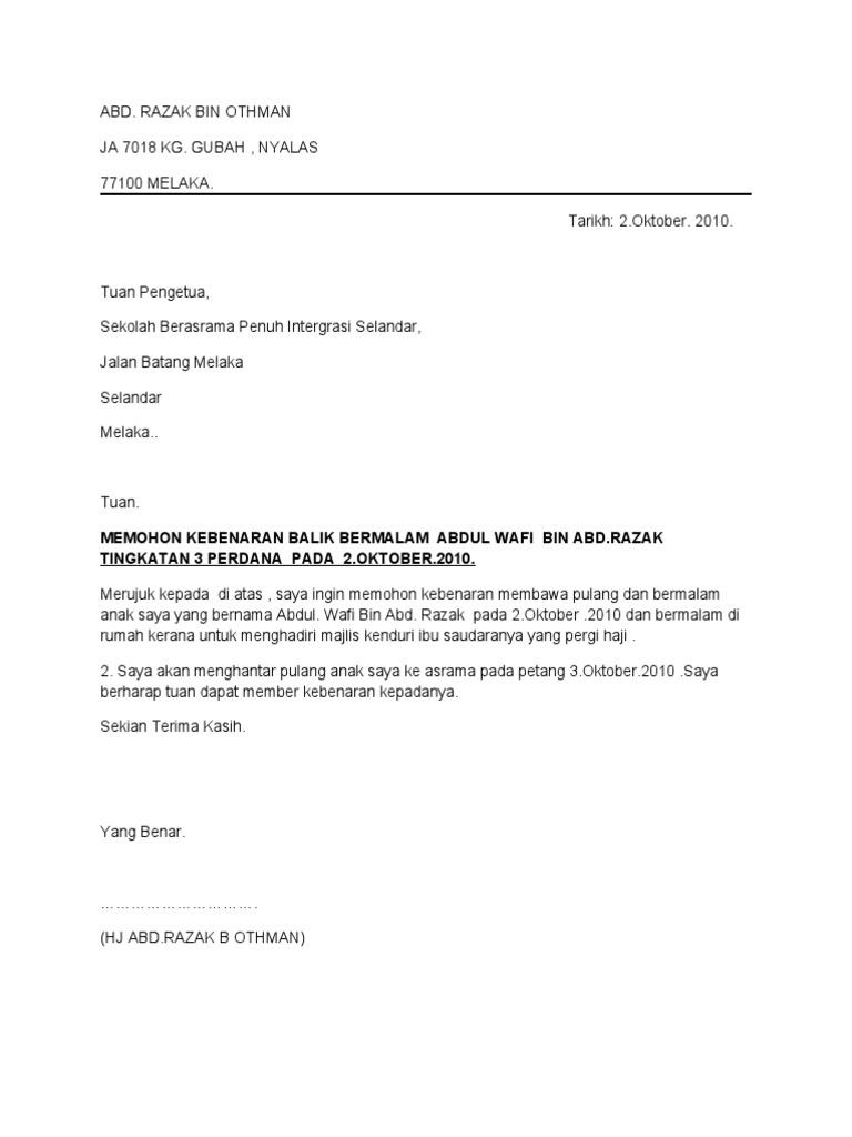 1464741540 - Surat Rasmi Cuti Kahwin
