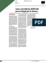 Io, mamma e Presidente dell'Erdis - Il Corriere Adriatico del 27 aprile 2021