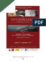 Mémoire et patrimoine de la haute vallée de l'Hérault. Représentations et valeurs contemporaines (conférence Ahc 2017)