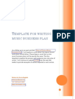 Template for writing a music business plan business plan music template for writing a music business plan business plan music industry friedricerecipe Images