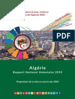 Algérie Rapport National Volontaire 2019 Progression de la mise en œuvre des ODD.