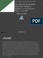 15.-Localización de placeres y minas en Oaxaca