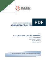 Manual de Ecologia e Gestao Ambiental 2017
