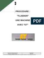 710-1 S - Procédure - Flasher Une Machine Avec ET