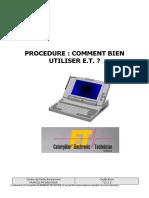 713-1 S - Procédure ET