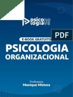 Ebook Psicologia Organizacional Psicologia Concursos