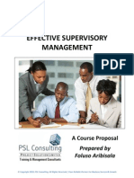 Oando Effective Supervisory Management Proposal