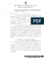 Resolución Corte Contestación de Demanda