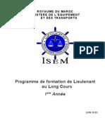 Programme de Formation en premiere annee le l'isem section pont