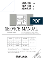 Service manual aiwa  NSX-R37