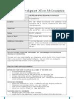 Membership Development Officer Job Description 2