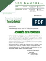Invitation Journée des Poussins 2011