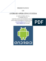 ANDRIOD OPERATING SYSTEM