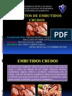 DEFECTOS DE EMBUTIDOS CRUDOS