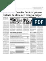 Jóvenes de Enseña Perú empiezan dictado de clases en Colegio Mayor