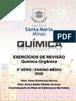 Exercícios de Revisão de Química Orgânica 3.ª Série Em 2020