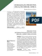 Revista Tensões Mundiais - Internacionalização produtiva brasileira e as relações Brasil-África
