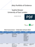 Health & Safety Portfolio in school example