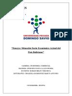 Ensayo Situacion SocioEconomica de Bolivia