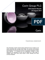 2010 Interim results presentation