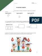 Activité groupes sanguins