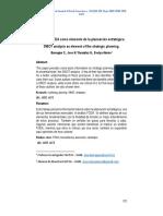 Análisis FODA Como Elemento de La Planeación Estratégica.