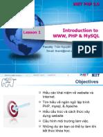 Lesson 01 - Introction WWW, PHP , MySQL