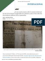 Fuente Quién Mató a Gandhi
