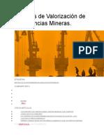 Métodos de Valorización de pertenencias Mineras