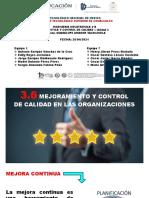 3.6 Mejoramiento y Control de Calidad en Las Organizaciones