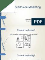 Aulas 1, 2 e 3 - Conceitos de Marketing