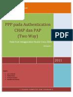 Laporan PPPDengan Authentication PAP Dan CHAP Pada Router Cisco 2500