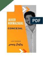 Javier Hormazábal - Concejal Por Las Condes. Programa e Ideas