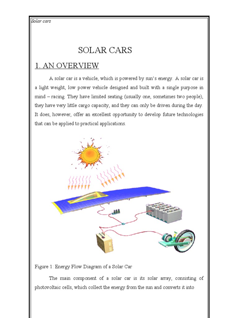 Solar Cars The Report Transmission Mechanics Brake